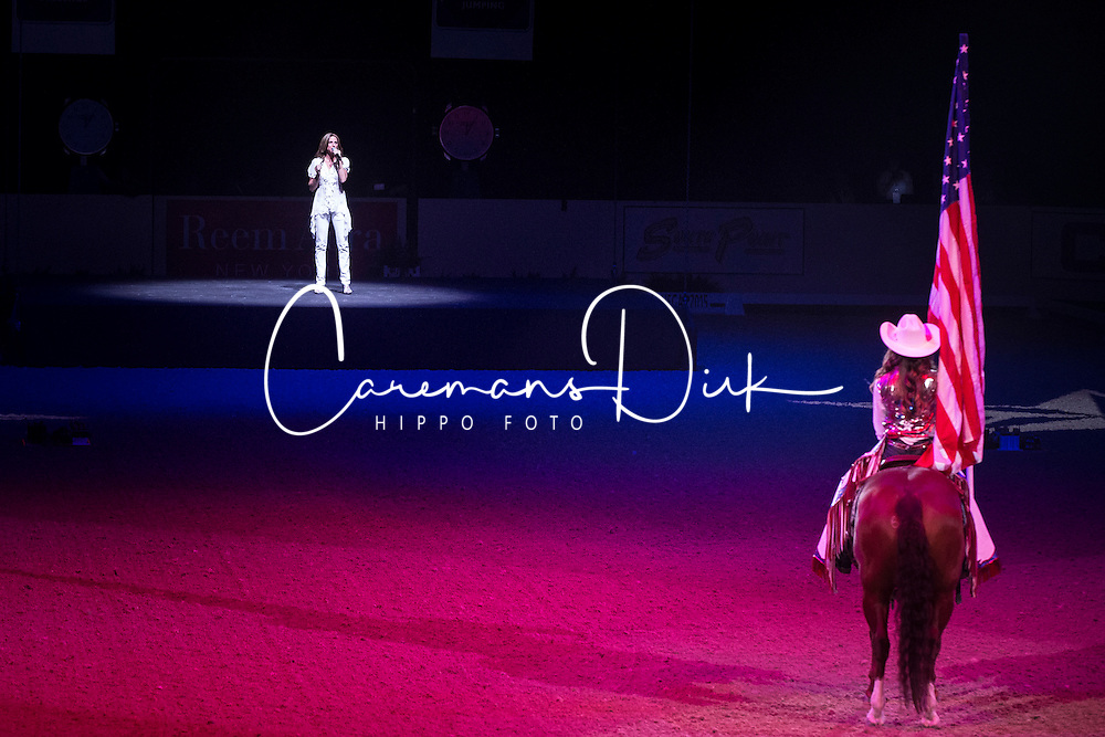Opening Ceremony before Dressage Final II, Grand Prix Freestyle <br /> Kur<br /> Reem Acra FEI World Cup™ Dressage Final<br /> Las Vegas 2015<br />  © Hippo Foto - Dirk Caremans<br /> 18/04/15