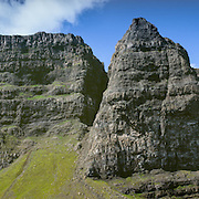 Trotternish Ridge behind the Old Man of Storr Stacks.