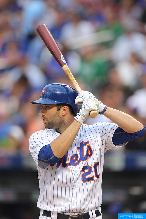 NEW YORK, NEW YORK - July 07: Neil Walker #20 of the New York Mets batting during the Washington Nationals Vs New York Mets regular season MLB game at Citi Field on July 07, 2016 in New York City. (Photo by Tim Clayton/Corbis via Getty Images)