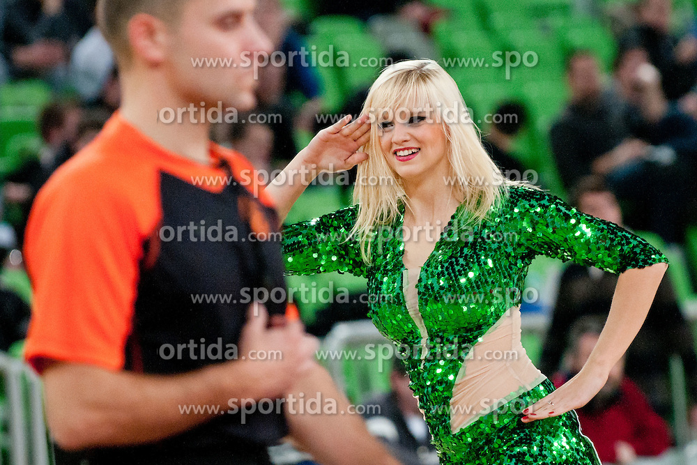 Cheerleaders Dragon Ladies during basketball match between KK Union Olimpija and Unics Kazan (RUS) of 10th Round in Group D of Regular season of Euroleague 2011/2012 on December 21, 2011, in Arena Stozice, Ljubljana, Slovenia. (Photo by Matic Klansek Velej / Sportida)