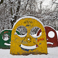 Public art in Central Park, Timisoara, Romania