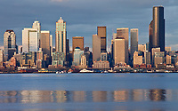 Downtown Seattle looking across Elliott Bay.