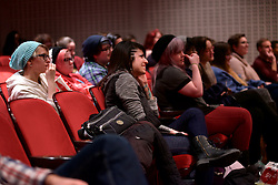View on some in the audience during the Feb. 25 Women Making Games panel discussion at Moore college of Art & Design.
