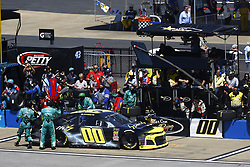 April 29, 2018 - Talladega, Alabama, United States of America - Joey Gase (00) brings his car down pit road for service during the GEICO 500 at Talladega Superspeedway in Talladega, Alabama. (Credit Image: © Chris Owens Asp Inc/ASP via ZUMA Wire)