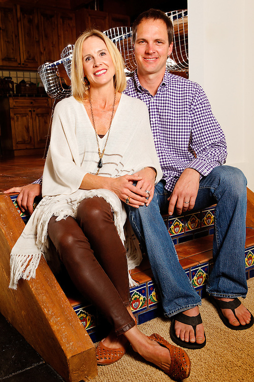 David and Kameron Gerber at their home in Telluride, Colo., Wednesday, Oct. 21, 2015.<br /> <br /> Photo by Barton Glasser