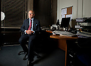 Portrait of Sir Jeffrey Jowell, QC at his office in Central London on February 9th 2012..Sir Jeffrey Jowell, QC flew to Damascus in July last year for secret meeting with Assad...photo Ki Price