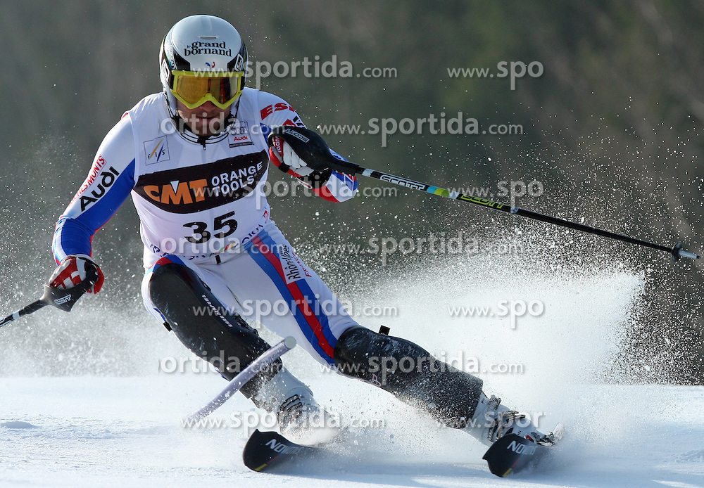 Blondin T. Mermillod at first run of 9th men's slalom race of Audi FIS Ski World Cup, Pokal Vitranc,  in Podkoren, Kranjska Gora, Slovenia, on March 1, 2009. (Photo by Vid Ponikvar / Sportida)