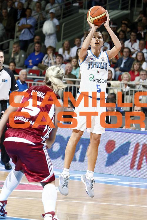 DESCRIZIONE : Riga Latvia Lettonia Eurobasket Women 2009 Semifinal 5th-8th Place Italia Lettonia Italy Latvia<br /> GIOCATORE : Mariachiara Franchini<br /> SQUADRA : Italia Italy<br /> EVENTO : Eurobasket Women 2009 Campionati Europei Donne 2009 <br /> GARA : Italia Lettonia Italy Latvia<br /> DATA : 19/06/2009 <br /> CATEGORIA : tiro<br /> SPORT : Pallacanestro <br /> AUTORE : Agenzia Ciamillo-Castoria/E.Castoria