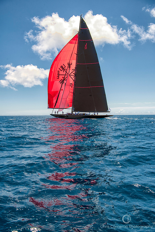 Bermuda, 14th June 2017. America's Cup Superyacht regatta. J Class race Two. Svea JS1