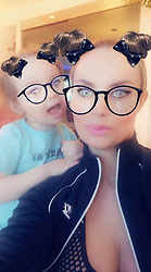 """Coco Austin releases a photo on Twitter with the following caption: """"""""Playing around on snapchat with my mini...."""""""". Photo Credit: Twitter *** No USA Distribution *** For Editorial Use Only *** Not to be Published in Books or Photo Books ***  Please note: Fees charged by the agency are for the agency's services only, and do not, nor are they intended to, convey to the user any ownership of Copyright or License in the material. The agency does not claim any ownership including but not limited to Copyright or License in the attached material. By publishing this material you expressly agree to indemnify and to hold the agency and its directors, shareholders and employees harmless from any loss, claims, damages, demands, expenses (including legal fees), or any causes of action or allegation against the agency arising out of or connected in any way with publication of the material."""