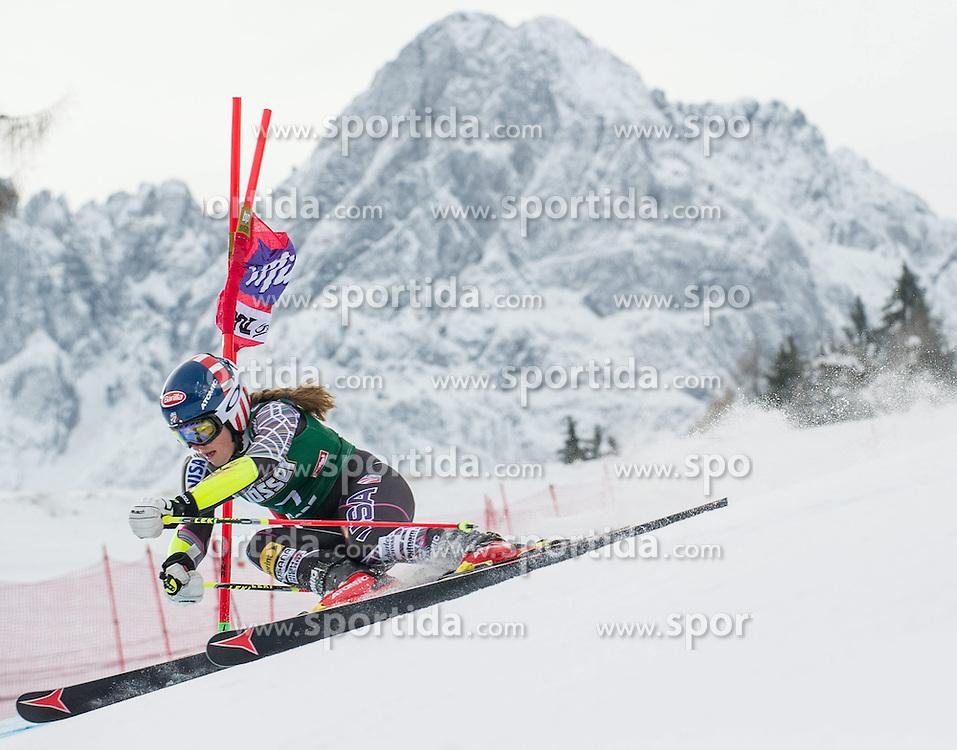 28.12.2013, Hochstein, Lienz, AUT, FIS Weltcup Ski Alpin, Lienz, Riesentorlauf, Damen, 1. Durchgang, im Bild Mikaela Shiffrin (USA) // during the 1st run of ladies giant slalom Lienz FIS Ski Alpine World Cup at Hochstein in Lienz, Austria on 2013-12-28, EXPA Pictures © 2013 PhotoCredit: EXPA/ Michael Gruber