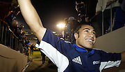 24 May 2003, Eden Park Auckland, Rugby Union, Xtra Super 12 Final, Auckland Blues vs Canterbury Crusaders.<br />Blue's Orene Ali'i after the final on Saturday night.<br />Pic: Marty Melville/Photosport