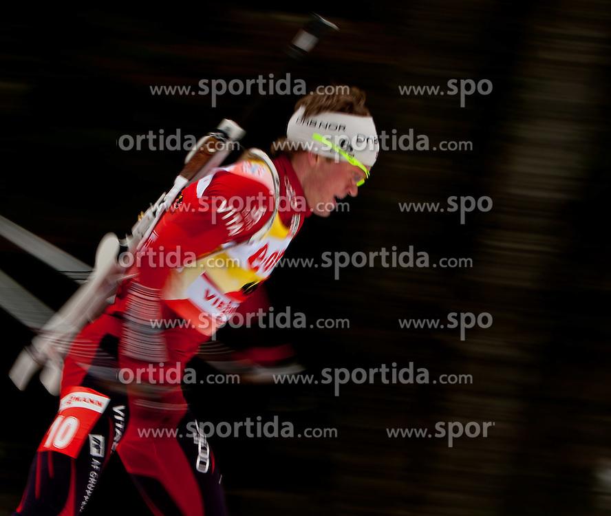 14.01.2011, Chiemgau Arena, Ruhpolding, GER, IBU Biathlon Worldcup, Ruhpolding, Sprint Men, im Bild Tarjei Boe (NOR) // Tarjei Boe (NOR) during IBU Biathlon World Cup in Ruhpolding, Germany, EXPA Pictures © 2011, PhotoCredit: EXPA/ J. Feichter