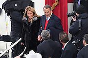Former House Speaker John Boehner arrives with his wife Debbie for the Inauguration of President-elect Donald Trump as the 45th President on Capitol Hill January 20, 2017 in Washington, DC.