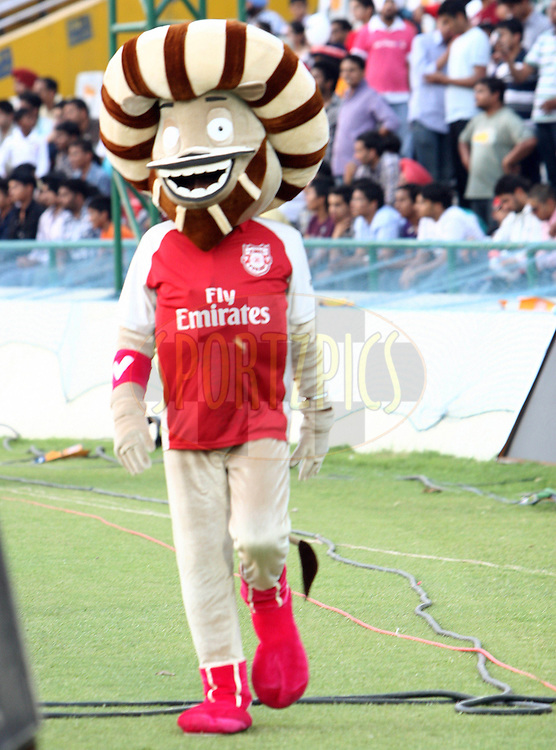A mascot during match 9 of the Indian Premier League ( IPL ) Season 4 between the Kings XI Punjab and the Chennai Super Kings held at the PCA stadium in Mohali, Chandigarh, India on the 13th April 2011..Photo by Money Sharma/BCCI/SPORTZPICS