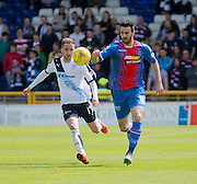 Inverness' Ross Draper and Dundee's Nick Ross  - Inverness Caledonian Thistle  v Dundee, Ladbrokes Scottish Premiership at Caledonian Stadium <br /> <br />  - © David Young - www.davidyoungphoto.co.uk - email: davidyoungphoto@gmail.com