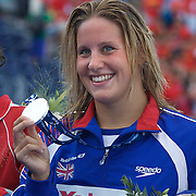 Joanne Jackson, Great Britain, Silver medal winner in the Women's 800m Freestyle  at the World Swimming Championships in Rome on Saturday, August 01, 2009. Photo Tim Clayton.