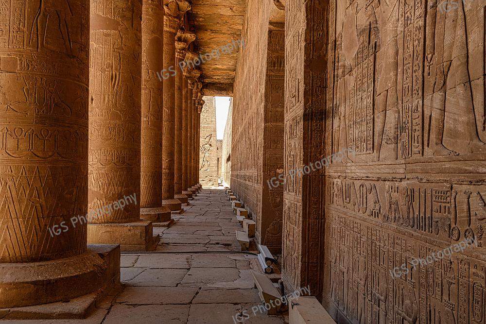 Edfu temple dedicated to the God Horus