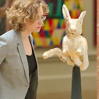 London June 3rd  Royal Academy of Arts photocall for the opening of the 241st Summer Exhibition 2009.Leaping Hare by Barry Flanagan..Standard Licence feee's apply  to all image usage.Marco Secchi - Xianpix tel +44 (0) 845 050 6211 .e-mail ms@msecchi.com .http://www.marcosecchi.com