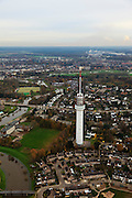 Nederland, Limburg, Roermond, 15-11-2010;.Zendmast van Roermond. Radio tower of the city of Roermond..luchtfoto (toeslag), aerial photo (additional fee required).foto/photo Siebe Swart