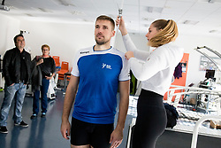 Urban Lesjak on psychophysical tests at Faculty of Sports before tomorrow's handball match between the national teams of Slovenia and Croatia, on October 17, 2017 in Faculty of Sports, Ljubljana, Slovenia. Photo by Urban Urbanc / Sportida