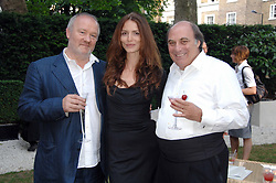 Left to right, VINCE POWER, Actress SAFFRON BURROWS and ARNAUD MARTIN at a party to celebrate Le Touessrok a luxury resort in Mauritius, held at The Hempel, 31-35 Craven Hill Gardens, London W2 on 12th June 2007.<br /><br />NON EXCLUSIVE - WORLD RIGHTS