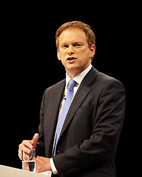 Grant Shapps on stage at the Conservative Party Conference, Manchester, United Kingdom. Sunday, 29th September 2013. Picture by i-Images