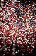 The balloon drop at the Democratic Convention in Chicago in 1996..Photograph by Dennis Brack BBBs 20