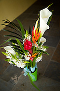 Wedding flowers, lily bouquet. simple wedding bouquet, Wedding in Manuel Antonio, private villa and beach photography.