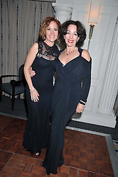 Left to right, sisters the HON.DEIRDRE SANDBERG and the HON.MARION LAWRENCE at the Matterhorn Challenge Ball in aid of Combat Stress as part of their 90th anniversary celebrations held at The Berkeley Hotel, London on 11th June 2009.