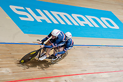 Damien Debeaupuits Pilot:  Mickael Dhinnin, FRA, Tandem 1 km TT, 2015 UCI Para-Cycling Track World Championships, Apeldoorn, Netherlands