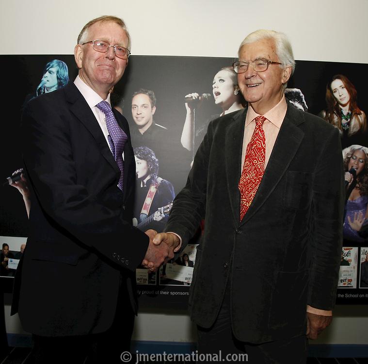 John Deacon CBE and Lord Baker of Dorking. The BRIT School Industry Day, Croydon, London..Thursday, Sept.22, 2011 (John Marshall JME)