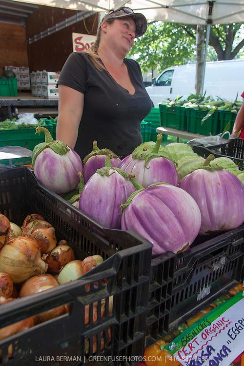 'Rosa Bianca' heirloom eggplant.