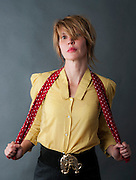 Comedian Julia Davis on shoot for Ki Price at Praxis studio Thursday 30th June 2011.