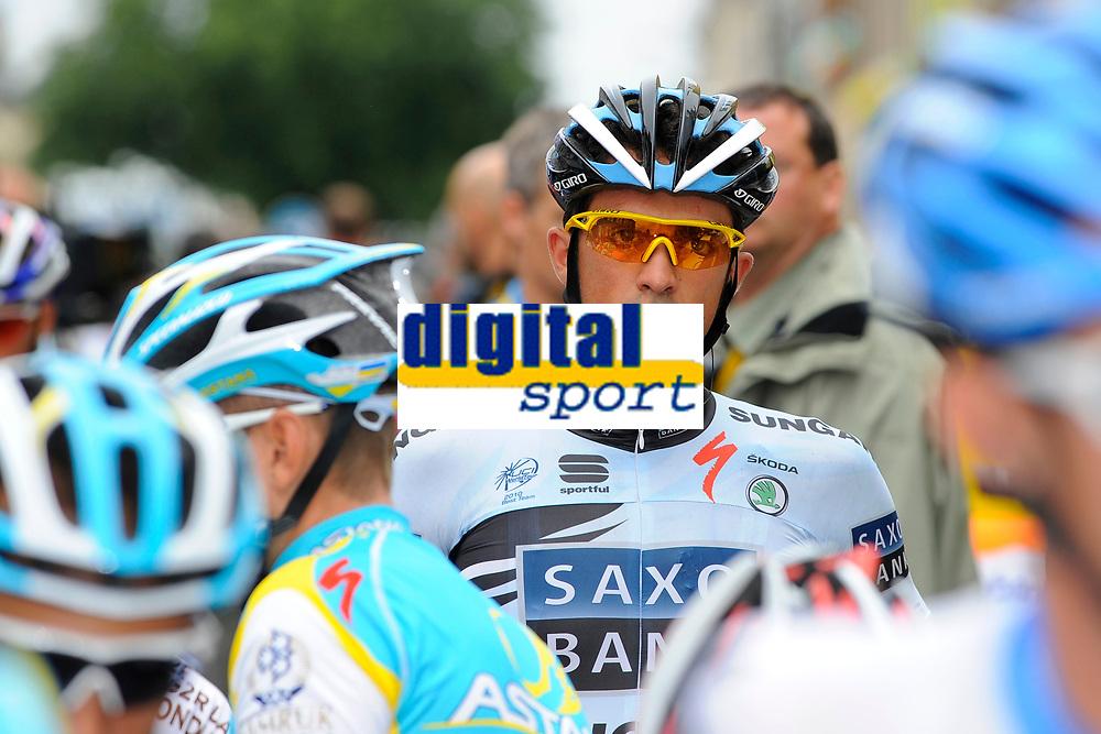 CYCLING - TOUR DE FRANCE 2011 - STAGE 8 - Aigurande > Super-Besse Sancy (189 km) - 07/07/2011 - PHOTO : JULIEN CROSNIER / DPPI - ALBERTO CONTADOR (ESP) / SAXO BANK SUNGARD