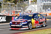 V8 Supercars. Clipsal 500. Adelaide Parklands Circuit.Adelaide. Australia. Saturday 2/3/2013. Craig LOWNDES (Aus) Red Bull Racing Australia wins the 78 lap V8 Supercars race one.<br /> copyright: © ATP Damir IVKA<br />  - <br /> V8 Tourenwagen Rennen in Adelaide, Australien - 2013,  v8 Saloon car race named Clipsal 500 - Honorarpflichtiges Foto, Fee liable image, Copyright © ATP Damir IVKA