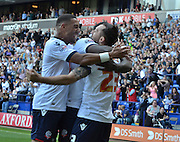 celebrations continue  during the Sky Bet Championship match between Bolton Wanderers and Nottingham Forest at the Macron Stadium, Bolton, England on 22 August 2015. Photo by Mark Pollitt.