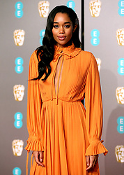 Laura Harrier attending the 72nd British Academy Film Awards held at the Royal Albert Hall, Kensington Gore, Kensington, London.