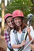 Mädchen im Kletterwald, Wiegand Erlebnisberge, Wald-Michelbach, Odenwald, Naturpark Bergstraße-Odenwald, Hessen, Deutschland | Kletterwald, Wald-Michelbach, Odenwald, Hesse, Germany
