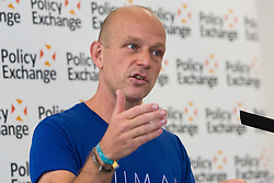 © Licensed to London News Pictures. 25/05/2016. LONDON, UK. STEVE HILTON, a former adviser and policy guru to David Cameron gives a speech about the European Union (EU), Brexit and Tory modernisation at The Policy Exchange in Westminster. Hilton is in favour of Brexit, believing the Prime Minister is wrong to urge voters to remain in the EU.  Photo credit: Vickie Flores/LNP