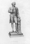 Jospeh Priestley (1733-1804) English Chemist and Non-Conformist minister. One of discoverers of oxygen. One of discoverers of oxygen.  Engraving after statue by JF Williamson