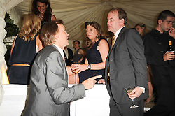 Left to right, the HON.JAMES STOURTON, HEATHER MCINTYRE and LORD DALMENY at the Apollo Magazine Summer Party held at 22 Old Queen Street, London, SW1 on 29th June 2010.