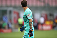 A black lives matter patch seen on the sleeve of AS Roma's Italian goalkeeper Antonio Mirante's shirt during the Serie A match at Giuseppe Meazza, Milan. Picture date: 28th June 2020. Picture credit should read: Jonathan Moscrop/Sportimage