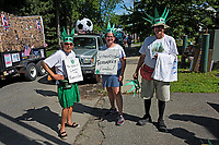 Indivisible MDI marching in the Independence Day Parade, Bar Harbor, Maine.