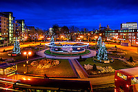 Rosebowl Queens Gardens, Kingston Upon Hull, East Yorkshire, United Kingdom, 16 November, 2015. Pictured: Chrismas Lights & Trees