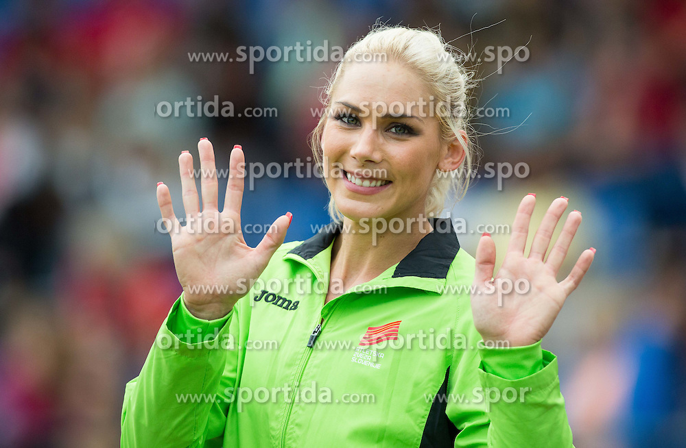 "Snezana Vukmirovic of Slovenia during ""Balkanation 2014"", athletic tournament of Balkan Region, on September 20, 2014 in Stadium ZAK, Ljubljana, Slovenia. Photo by Vid Ponikvar  / Sportida.com"