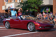 Aug 3, 2019; Canton, OH, USA; James Lofton during the Pro Football Hall of Fame Grand Parade on Cleveland Ave. in Downtown Canton. (Robin Alam/Image of Sport)