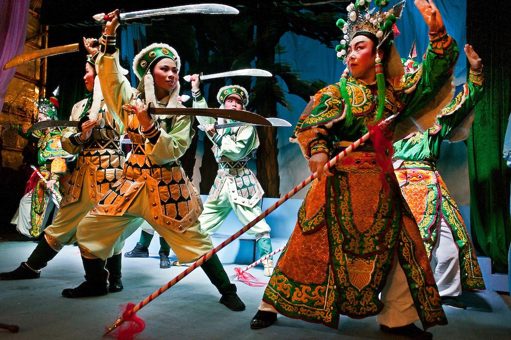 Chaozhou style opera in Shek Tong Tsui, Hong Kong.