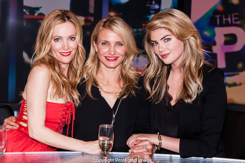 The Stars Of The Other Woman, Leslie Mann, Cameron Diaz and Kate Upton at The Project, Sydney-16 Apr 2014