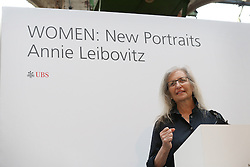 © Licensed to London News Pictures. This image is free to use ONLY in connection with the launch of the 'WOMEN: New Portraits' exhibition. 13/1/2016. London, UK. UBS and Annie Leibovitz launch 'WOMEN:New Portraits' at Wapping Hydraulic Power Station. The exhibition opens to the public from Saturday 16th January until 7th February 2016. The newly commissioned photographs by the world renowned photographer will travel to 10 cities over the course of twelve months – London, Tokyo, San Francisco, Singapore, Hong Kong, Mexico City, Istanbul, Frankfurt, New York and Zurich. Access will be free to the public. Photo credit: Peter Macdiarmid/LNP